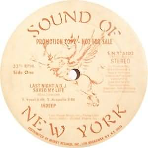 Sound Of New York; Indeep